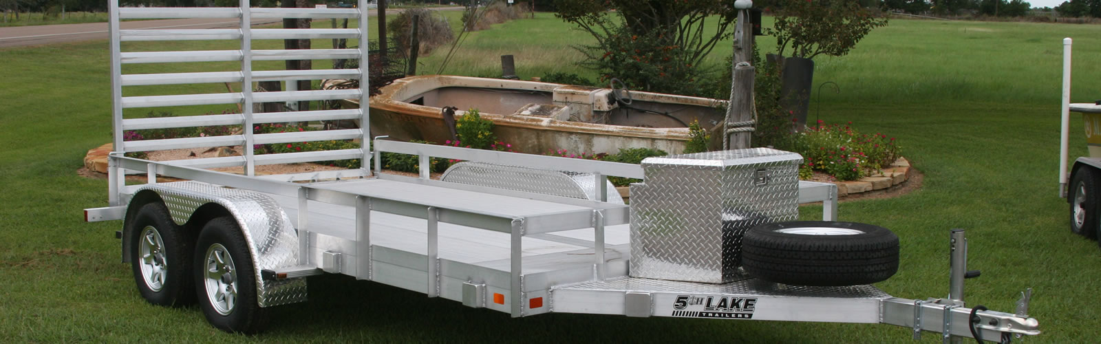 We can custom build Aluminum Utility Trailers