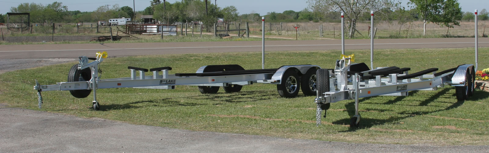 We can build an aluminum trailer to fit almost any boat